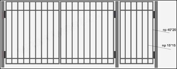 """Ворота двухстворчатые сварные """"Эконом"""""""