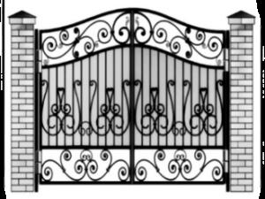 Недорогие кованые металлические ворота