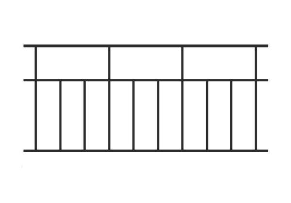 Ограждение ОГР-14 (Простое, прямоугольниками)