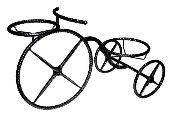 Подставка для 2-х цветов кованая «Велосипед»