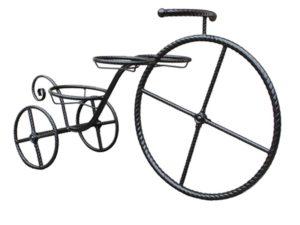 Подставка для 3-х цветов кованая «Велосипед»