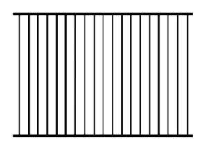 Забор металлический кованый «Basic #1»