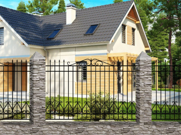 Забор металлический кованый «Basic #10» (ОСТ 15-25-04)