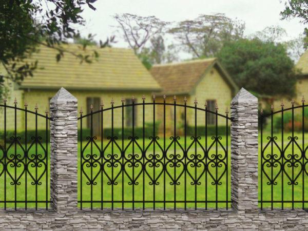Забор металлический кованый «Basic #13»