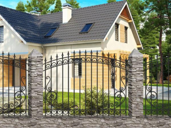 Забор металлический кованый «Basic #14»