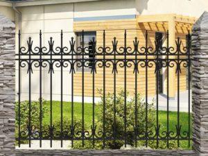 Забор металлический кованый «Basic #15»