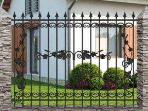 Забор металлический кованый «Basic #16» (ОСТ 15-02 «Лоза»)