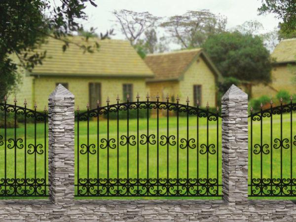 Забор металлический кованый «Basic #17» (ОСТ 15-55)