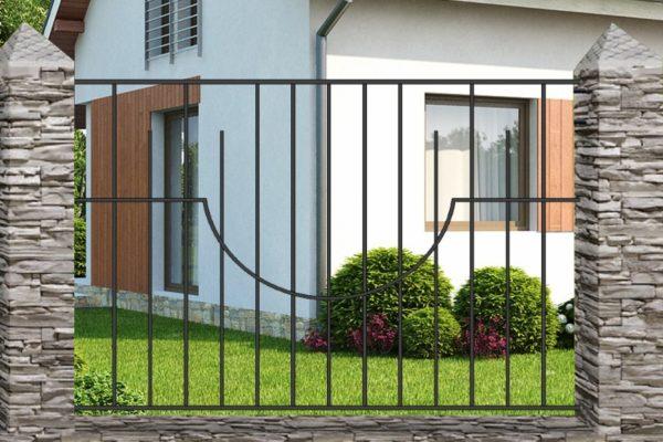 Забор металлический кованый «Basic #2»