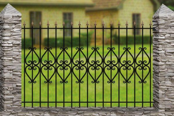 Забор металлический кованый «Basic #9»