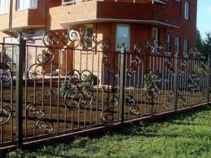 Забор металлический кованый «Кованый орден»