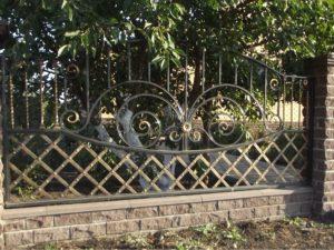 Забор металлический кованый «Прага»