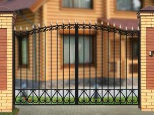 Ворота «Узор на поясе» арочные