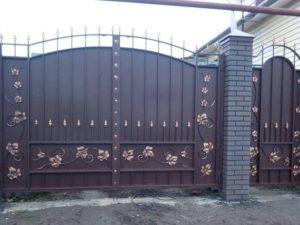 """Ворота """"Боярские"""" с лозой"""