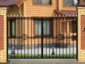 Ворота «Дачные» с ободком