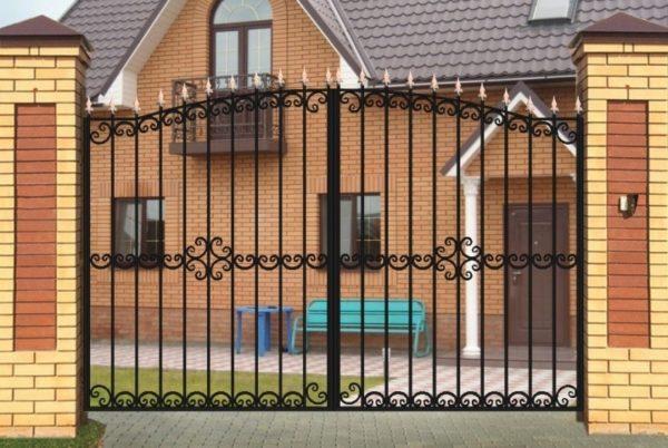 Ворота «Дачные» с ободком арочные