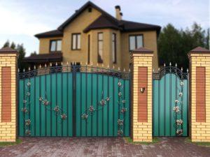 "Ворота ""МПА"" с лозой"