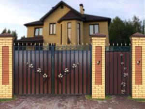 "Ворота ""МП"" с лозой"