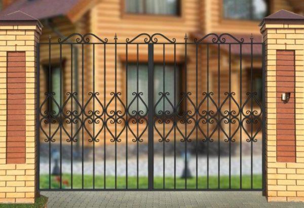 Ворота «Узором по центру»
