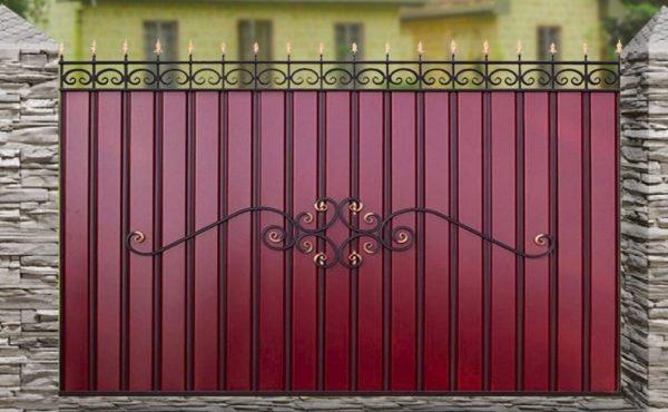 Забор металлический ОСТ из МеталлоПрофиля (МП)