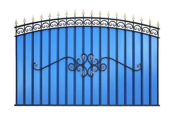 Забор металлический ОСАТ из МеталлоПрофиля Арочный (МПА)
